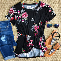 Floral With A Twist Top