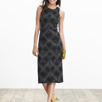 Banana Republic Womens Textured Plaid Dress