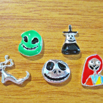 Disney Nightmare Before Christmas Floating Locket Charms