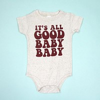 It's All Good Baby Baby Triblend Onesuit