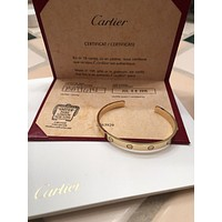 Authentic Cartier Love Cuff / Bracelet 18 Karat Yellow Gold Size 18