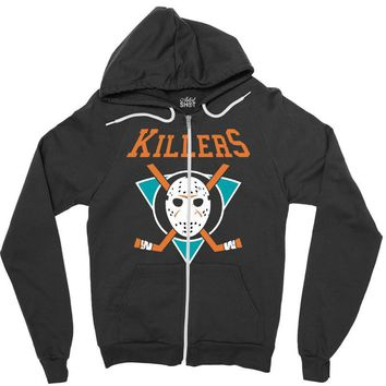 crystal lake killers Zipper Hoodie