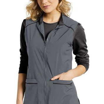 Fit by White Cross Women's Zip Front Tech Solid Scrub Vest