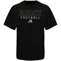 Army Black Knights Frame Football T-Shirt - Black