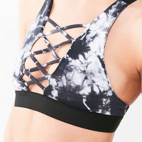 Blue Life Fit Tuxedo Sports Bra - Urban Outfitters