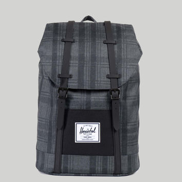 Herschel Retreat Backpack Plaid/Black