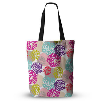 """Agnes Schugardt """"Pie In The Sky"""" Rainbow Abstract Everything Tote Bag"""