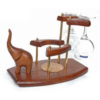 """Exclusive Wooden Mini Bar """"ELEPHANT"""" For Wine. Hand Made, Interior Design, Home Decor, Office Decor"""