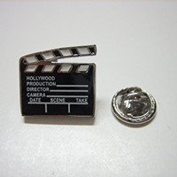 Film Clapper Board Lapel Pin [Jewelry]