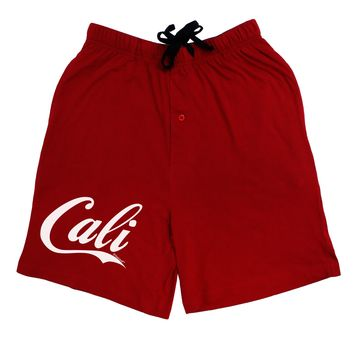 California Republic Design - Cali Adult Lounge Shorts - Red or Black by TooLoud