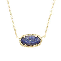 Kendra Scott: Elisa Pendant Necklace In Raw Cut Lapis