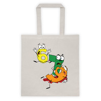 Why was 6 Afraid of 7 Seven Ate Nine Cute Zombie Pun Double Sided Print Tote Bag