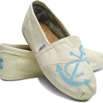 Greek Sorority College Sister Custom Hand  Painted TOMS Classic Womens Canvas Sneaker by Arts and Soles