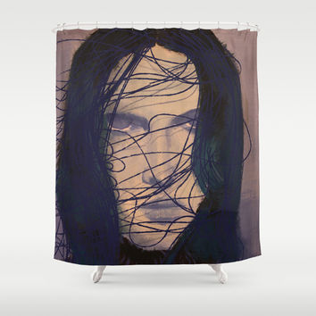 THE GIRL Shower Curtain by IN LIMBO ART | Society6