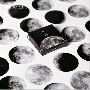 45 Pcs/Pack phase of the moon planet star calendar Decoration Stickers DIY hand craft Planner scrapbook lable Diary Stickers