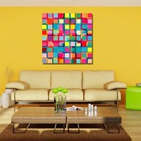 """canik206 Canvas Print Artwork Stretched Gallery Wrapped Wall Art Painting abstraction Size 26x26"""""""