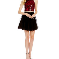 Honey and Rosie Sequin Bodice Two-Piece Dress | Dillards