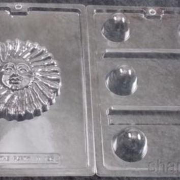 Lot 2 Sunface Truffle Chocolate Molds Life Of The Party 3D Candy Soap Flower NEW