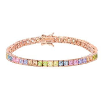 Pastel Princess Cut Bracelet