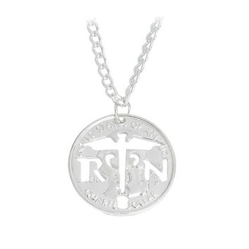 RN Cut Coin Pendant Necklace