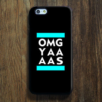 Black White OMG YAAAS iPhone 6s Case iPhone 6s Plus Case iPhone 6 Cover iPhone 5S 5 iPhone 5C iPhone 4/4s Galaxy S6 Edge Galaxy s6 s5 Galaxy Note 5 Phone Case 156