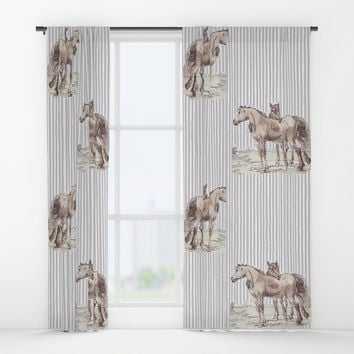 Companions - horse love Window Curtains by anipani