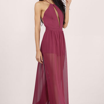A French Affair Sheer Maxi Dress $58