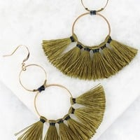 O Ring Tassel Earring