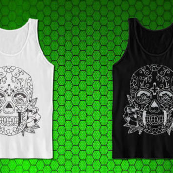 Kellieslingerland Sugar Skull Tattoo for tank top mens and tank top girls