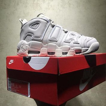 Best Online Sale Nike Air More Uptempo Retro Sport Baskerball Light Bone Sneaker