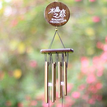 Antique Handmade Copper Windchimes Wind Chimes for Outdoor Living Yard Garden Tubes Bells Hanging Ornaments Home Decor