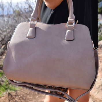 Structured Shoulder Bag Taupe