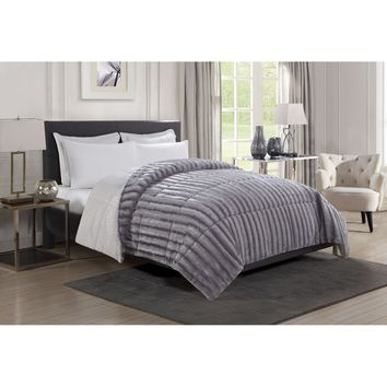 Christian Siriano Luxury Reversible Fur Comforter - Various Colors