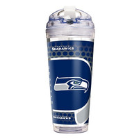 Seattle Seahawks 24 Oz. Acrylic Tumbler w/ Straw