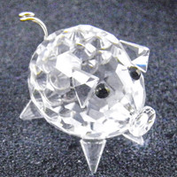 Swarovski Crystal Mini Pig Retired Faceted Clear Glass Figurine 1980s