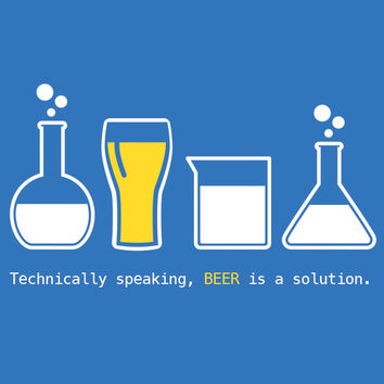 Technically Speaking, Beer is a Solution Triblend Racerback Tank Top