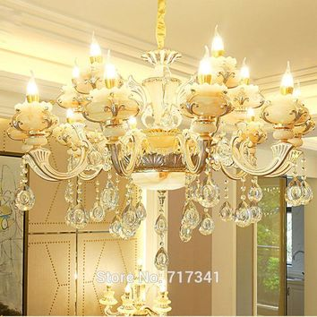 Crystal and Blown Milk Glass Chandelier. Very Beautiful High Street Lighting