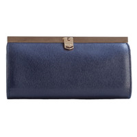 Corsica-Slim French Clasp Clutch Wallet-Saffiano Blue