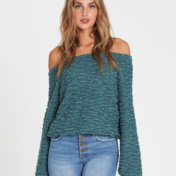 Off The Beat Off-The-Shoulder Sweater