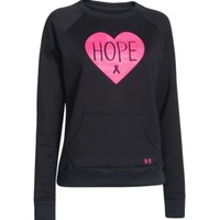 Under Armour Women's Power In Pink Armour Fleece Hope Crewneck Sweatshirt | DICK'S Sporting Goods