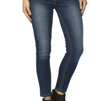 Girls Crop Jegging - Medium Stone Wash
