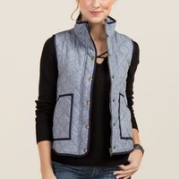 Lexington Quilted Vest in Navy