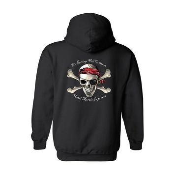 Men's/Unisex Zip-Up Hoodie Pirate Skull And Crossbones