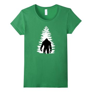 Bigfoot/Sasquatch tree design t-shirt