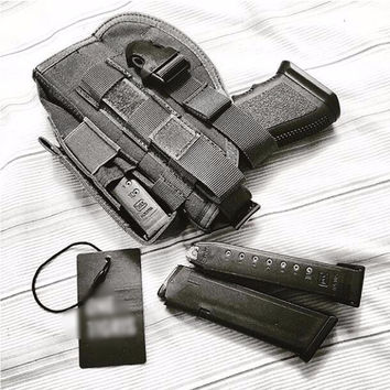Molle Modular Pistol Holster with Mag Pouch for Right Handed Shooters 1911 45 92 96 Glock 2pcs/lot