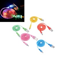 Universal Light Up LED Micro USB Android Phone Data Sync Adapter Charger Cable For HTC LG Samsung Sony Huawei