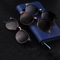 1Pc Retro Half Frame Shades Style Classic Frame Sunglasses Summer Eyewear Women Men Sun Glasses 3 Colors oculos de sol feminino