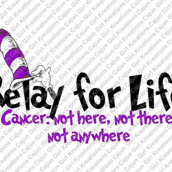 Relay For Life Cancer Printable Digital Iron On Transfer Clip Art DIY Tshirts Instant Download Matching Necklace Sold In Our Shop