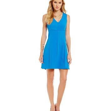1. STATE V-Neck Fit-and-Flare Dress | Dillards