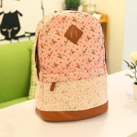 forever2you — Flora Print Backpack with Lace